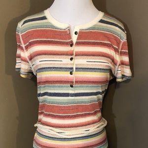 Lauren Ralph Lauren Dress Med Striped Nautical Tie